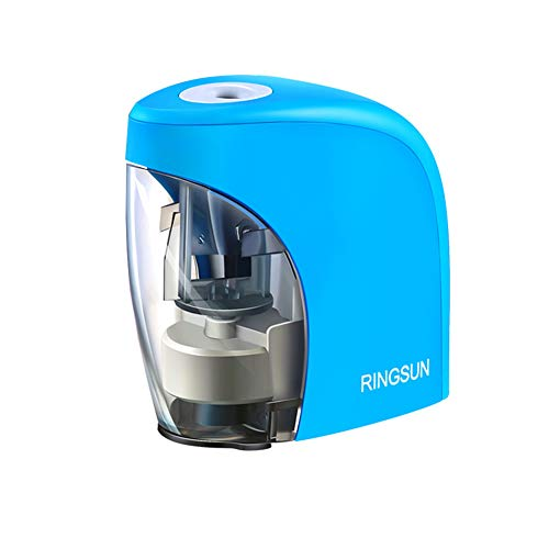 Electric Pencil Sharpener,Automatic Pencil Sharpener with USB for Office School Studio Home Blue