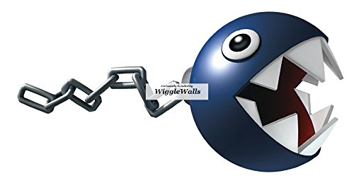 Wii Decorations Removable Wall Kart Mario (6 Inch Chain Chomp Super Mario Removable Wall Decal Sticker Art Nintendo 64 SNES Home Kids Room Decor Decoration - 5 3/4 by 3)