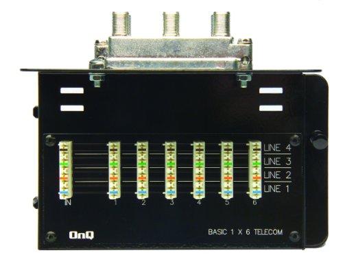 Legrand - On-Q 36440004 6 Telecom / 4 Video Basic Combo Module