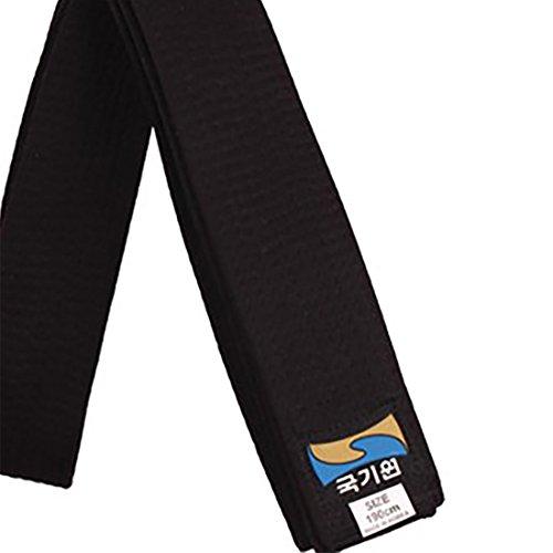 Korea Taekwondo Kukkiwon Black Belts 160~210cm Length TKD Taek Won Do Belt (Length(180cm or 5.90ft))