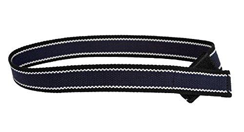 Myself Belts- Easy Belt with One Handed Closure for Little Boys Navy/Black (Handed Belt)