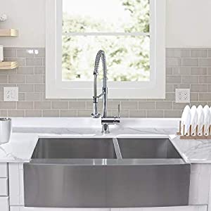 41CwPKPYr0L._SS300_ 75+ Beautiful Stainless Steel Farmhouse Sinks For 2020