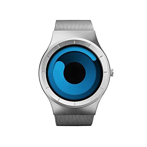 Redlemon Reloj Sinobi Swirl, Estilo Innovador y Vanguardista, Movimiento de Cuarzo, Acero Inoxidable, Resistente a...