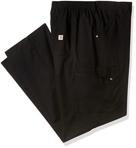 Carhartt Men's Rockwall Cargo Scrub Pant, Black, X-Large