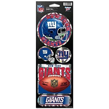 - WinCraft NFL New York Giants Prismatic Stickers, Team Color, One Size