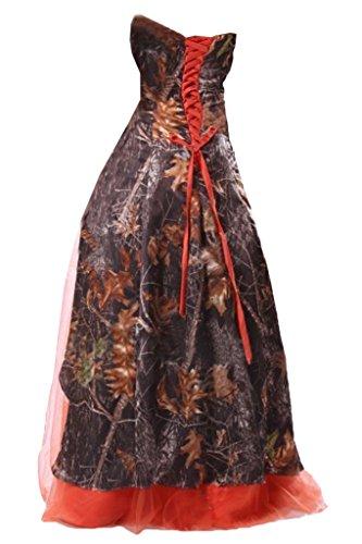 Robe Bustier Avril Camo Robe De Bal En Couches Robe De Soirée Dorée