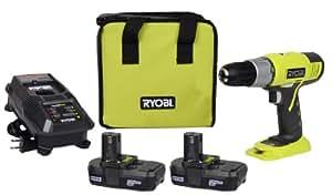 Ryobi 18-Volt ONE+ Lithium-ion Drill Driver Kit P817