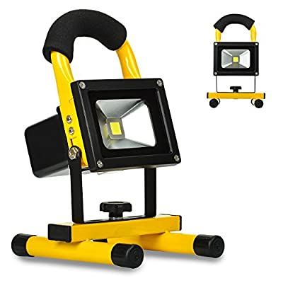 KAWELL Spotlights Work Lights Outdoor Camping Lights, Built-in Rechargeable Lithium Batteries?Waterproof PI65, 6000K, 2 Years