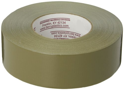 - Nashua 398 Polyethylene Coated Cloth Professional Grade Duct Tape, 55m Length x 48mm Width, Olive Drab