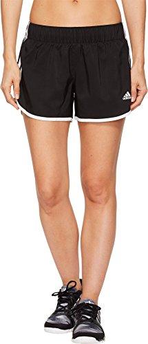 """adidas Women's Running M10 Shorts 4"""" Inseam, Black/White, Small"""