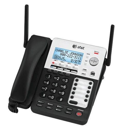 AT&T SynJ SB67118 4-Line Extendable Range Corded/Cordless Small Business Phone System Bundle With Expandable ()