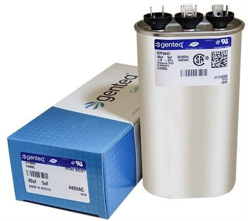 Carrier P291-4054 - 40 + 5 uF MFD x 440 VAC Genteq Replacement Dual Capacitor Oval # C4405L / 97F9843 (440v Capacitor)