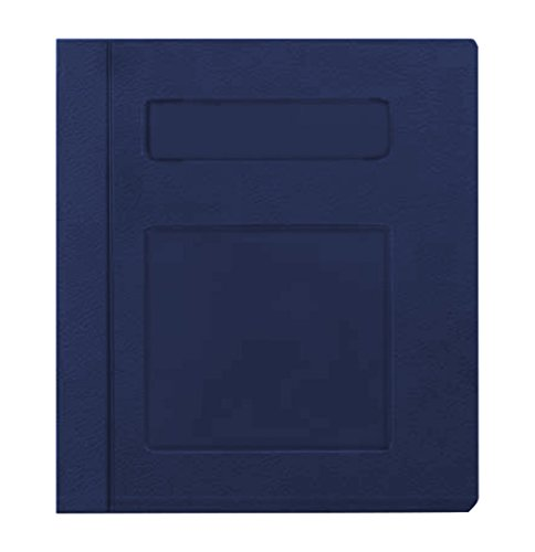 PDC Healthcare CBS17NB Poly Binder, Side Open, 3-Ring, ''Patient Record'', 3'', Navy Blue by PDC Healthcare
