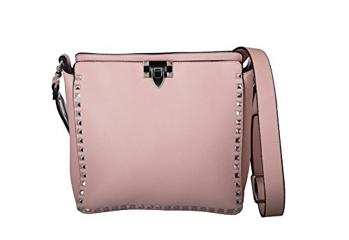 Cross Stud Body (Inzi Crossbody Stud Bag 7121 (Pink with Silver Studs))