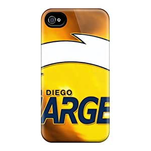 Protective Cell-phone Hard Cover For Iphone 4/4s (GbD6114XnnR) Allow Personal Design HD San Diego Chargers Skin