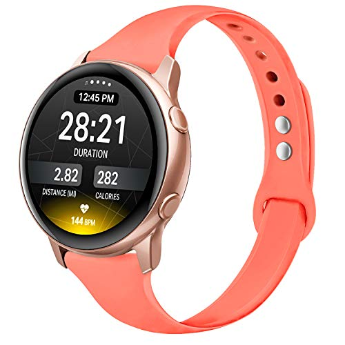 Yutior Silicone Sport Bands Compatible with Galaxy Watch Bands 42mm / Galaxy Watch Active 40mm Band/Gear Sport Bands, Soft Sport Wristband Women Men Large Small Compatible with Active 40mm SM-R500