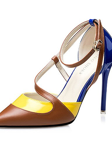 ZQ Zapatos de mujer-Tac¨®n Stiletto-Tacones-Tacones-Casual-PU-Negro / Azul / Rosa , pink-us6 / eu36 / uk4 / cn36 , pink-us6 / eu36 / uk4 / cn36 pink-us5 / eu35 / uk3 / cn34