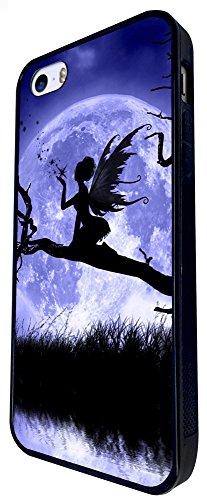 794 - Fairy Falling Stars And Moon Design iphone SE - 2016 Coque Fashion Trend Case Coque Protection Cover plastique et métal - Noir