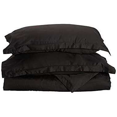1500 Thread Count Egyptian Quality Duvet Cover Set, 3pc Luxury Soft, All Sizes & Colors, Full/Queen Black