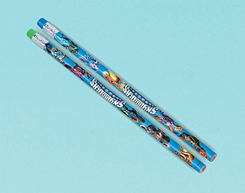 amscan Skylanders Pencils Birthday Party Favors (12 Pack), 7 3/8