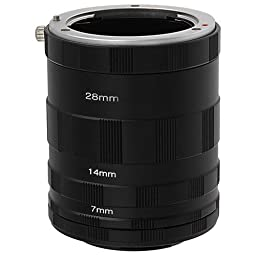 Fotodiox Macro Extension Tube Set for Extreme Close-up for Micro Four Thirds Cameras