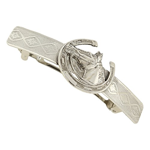 1928 Jewelry Silver-Tone Horseshoe and Horse Hair Barrette for sale  Delivered anywhere in USA