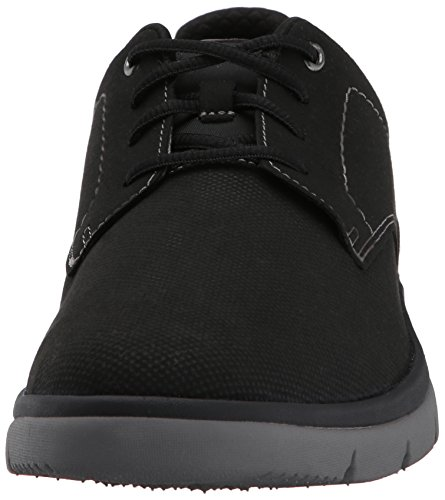 Clarks Mens Tunsil Plain Oxford Black