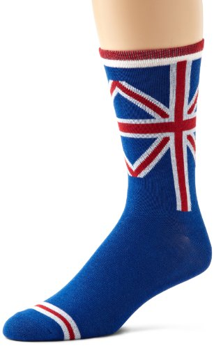 K. Bell Socks Men's British Flag Sock, Multi, Sock Size: 10-13/Shoe Size:9-11