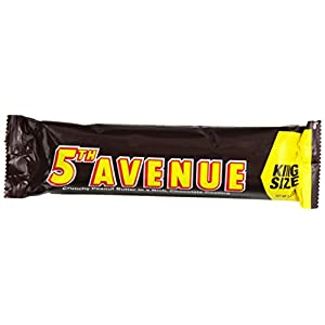 HERSHEY'S 5th Avenue Chocolate Peanut Butter Candy Bar, King Size (Pack of 18)