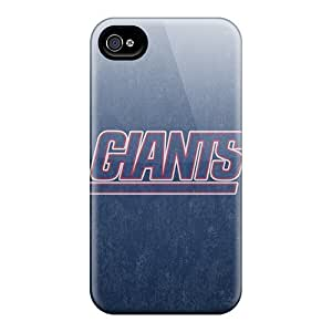 Tpu Case Cover For Iphone 4/4s Strong Protect Case - New York Giants Design