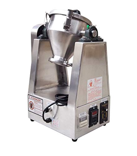 MXBAOHENG 3L Laboratory Pill Powder Mixer Dry Powder Granule Blender Particle Mixer 304 Stainless Steel (110V)