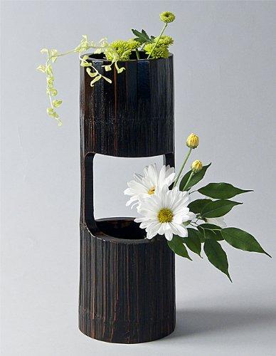 Bamboo Section Vase, for cascading ikebana arrangements   Ziji
