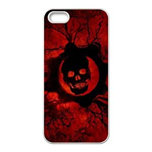 gears of war skull iPhone 4 4s Cell Phone Case White Exquisite gift (SA_562280)