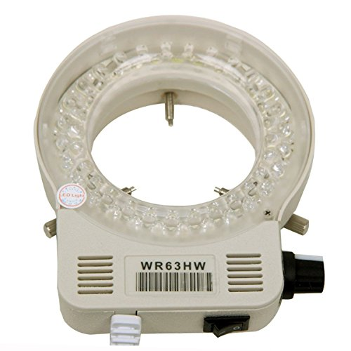 AmScope LED-56S-ZK 56 Microscope Ring Light LED Ring Light Illuminator with Dimmer for Stereo Microscope