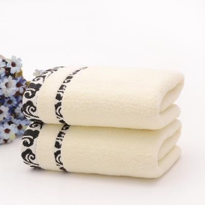 XH@G Towels cotton Jacquard towelling bathroom items , black