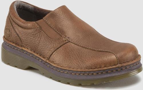 Dr. Martens Men's Tevin Slip-On Shoe, Tan, 9 UK/10 M (Dr Doc Martens Shoes)