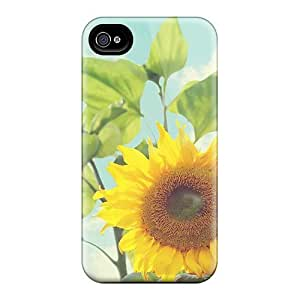 Fashionable ZEDKBqN1751CNjQP Iphone 4/4s Case Cover For Mother S Day Beautiful Flower Sunflower Protective Case