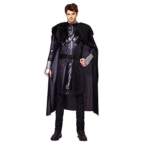 BristolNoveltyAF025Costume de chevalier noir de luxe Tour de poitrine: 106,7cmà111,8cm