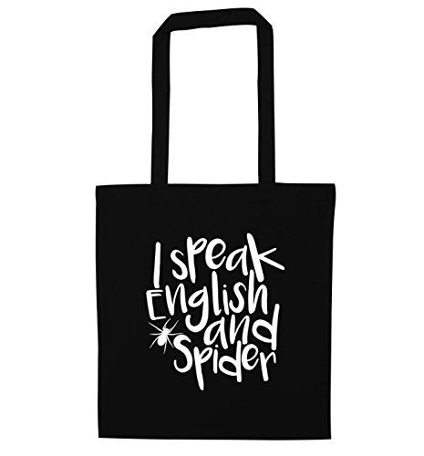 speak spider Black bag I and English tote vBwqnC71W
