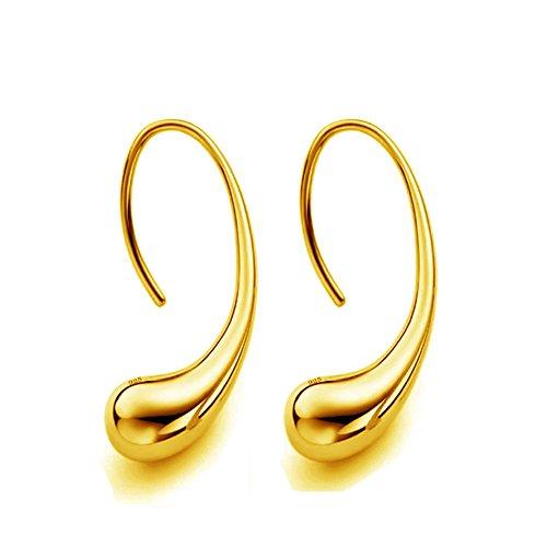 (Women Sliver Plated Classic Fashion Design Thread Drop Earrings,Teardrop Back Earrings Hoop Earrings)