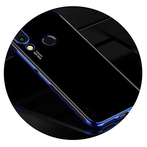 for Huawei P Smart 2019 case Back Cover for Huawei Nova 3i case Silicone Bumper TPU Plating case Protector case for Nova 3,Blue,Huawei p Smart Plus
