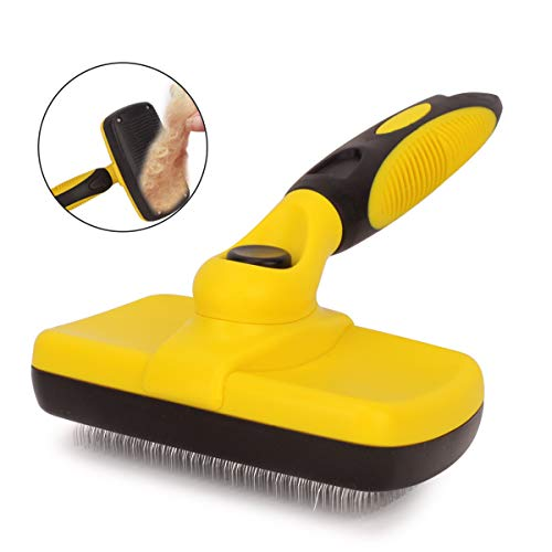 Bolux Pet Grooming Brush, Self Cleaning Slicker Brushes Hair Shedding Tools for Grooming Small, Medium & Large Cats and…