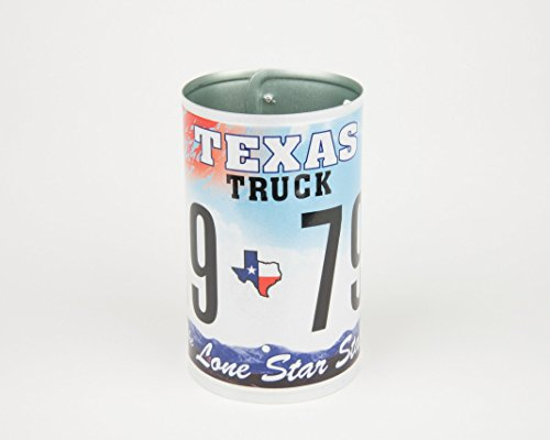 (Texas License Plate Pencil Holder - Back to School supply - Dorm Room Decor - Desk Accessory - Office Organization - Graduation Gifts - Flower Vase - Texas souvenir)