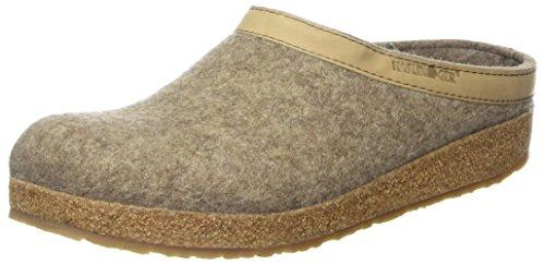Haflinger 713001-550 Slippers, Filztoffel Grizzly Torben, torf, Gr 39