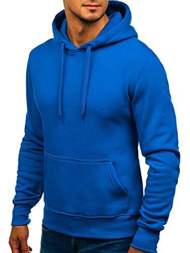 Homme Bleu 1a1 Longues Sweatshirt Hiver Kangourou Avec Basique Sportif Manches Capuche Bolf 2009 Poche d7xHqd