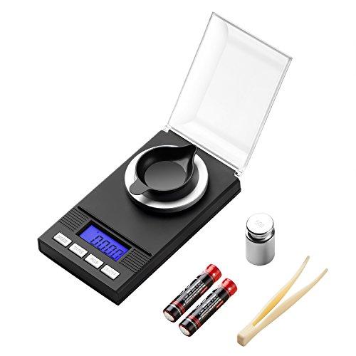 Milligram Scale 50g / 0.001g Digital Jewelry Gun Powder Scale for Reloading...