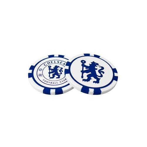 Chelsea Fc Poker Chip Ball Marker 2-pack - White/blue (Ball Golf Soccer Marker)
