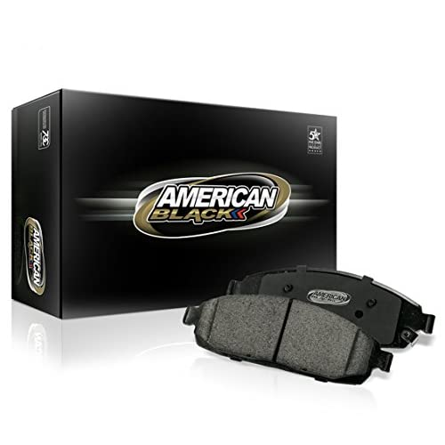 Nice American Black ABD1086C Professional Ceramic Rear Disc Brake Pad Set Compatible With RDX Accord Crosstour CR-V & Others - OE Premium Quality - Perfect fit, QUIET and DUST FREE