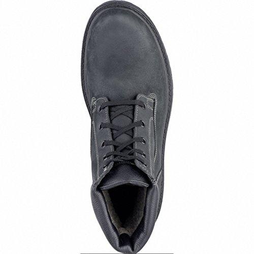 Jomos Herren Leder Winter Boots Schwarz, Lammfellfutter, Warmes Fußbett, Extra Weite, 2539117/40 Schwarz