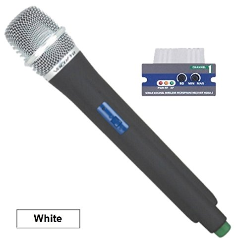 VocoPro UMH-O UHF Module and Wireless Handheld Mic is compatible with the UHF-5800, PA-MAN, UHF-8800 and the PA-PRO 900 - 694.11 MHz White